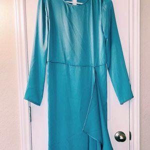 Stine Goya designer dress light blue silk